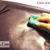 Cách vệ sinh túi xách da làm từ chất liệu da nhẵn